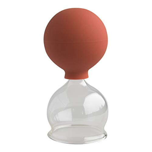 Schröpfglas mit Saugball 50mm zum professionellen, medizinischen, feuerlosen Schröpfen mundgeblasen handgeformt, Schröpfglas, Saugglocke, Saugglas, Schröpfgläser, Lauschaer Glas das Original