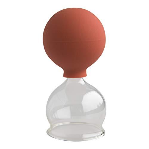 Lauschaer Glas, Schröpfglas mit Saugball 50mm zum professionellen, medizinischen, feuerlosen Schröpfen mundgeblasen handgeformt, Schröpfglas, Schröpfgläser, Lauschaer Glas das Original
