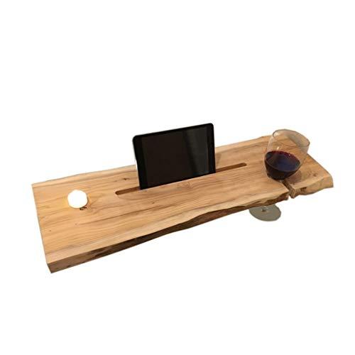 Badkuip Caddy dienblad extra breed en duurzaam/wijnglas met tablet-houder rustieke houtverwerking (22 £)