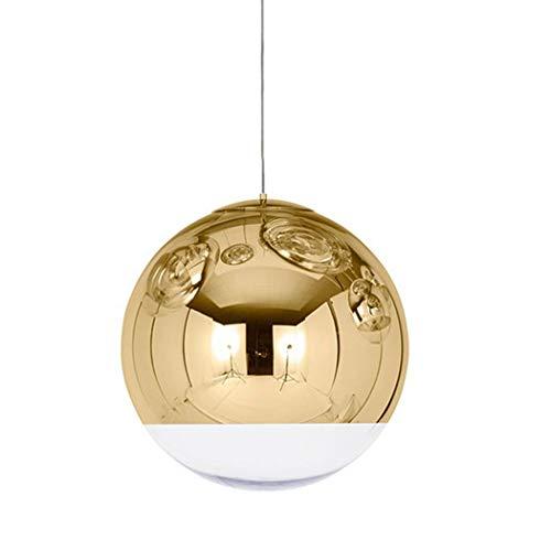 Moderne bol met spiegel beklede bol, verstelbare zilver/gouden hanglamp, hangende lamp restaurant, trap, plafondlamp, café, kantoor, bar, decoratie, licht