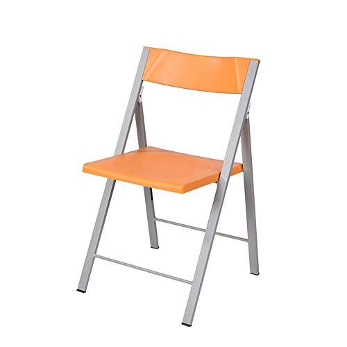 LQ Tragbarer Klappstuhl, Stapelbarer Kunststoffstuhl Im Wohnzimmer Mit Rückenlehne, Starrer Klappstuhl, Geeignet Für Den Angelrucksack Im Wohnzimmer Der Küche (Farbe : Orange)