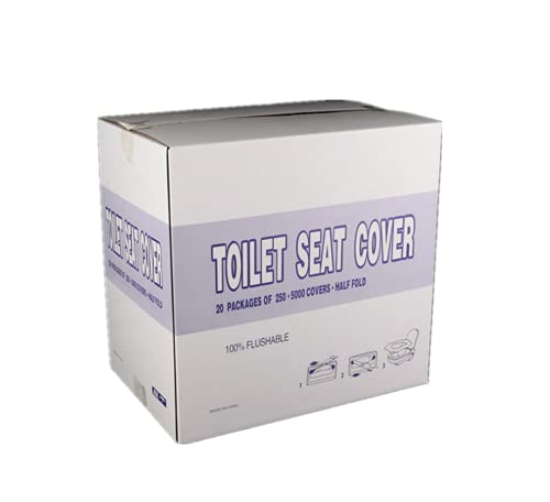 wgkgh 250 Sheets/Box Disposable Water-Soluble Toilet Cushion,Disposable Toilet Cushion Cushion Paper,Toilet Pad ?Seat Cover