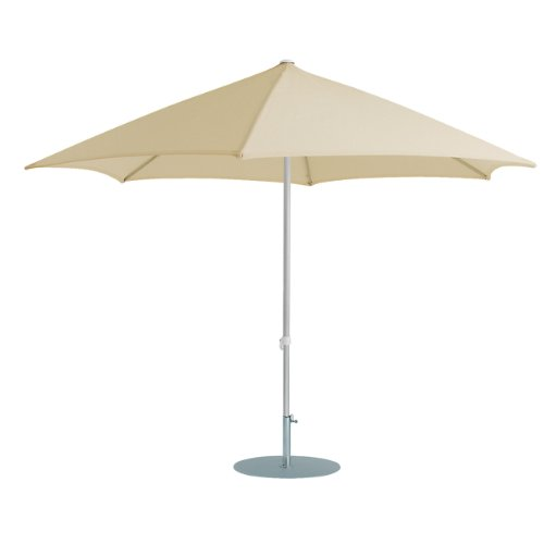 Jan kurtz parasol rond naturel 2,5 m en aluminium avec articulé elba
