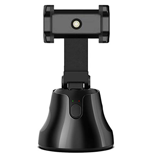 Gaoominy Smart Tracking Gimba Tragbarer Auto-Handyhalter mit 360-Grad-Auto-Tracking-Vlog-Kamerahalterung (Schwarz)