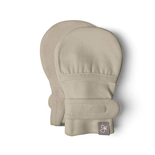 Goumi baby mitts, scratch-free newborn mittens, newborn essential, bamboo and organic cotton blend (0-3 Months, Soybean)