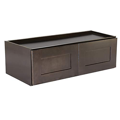 Design House Brookings Shaker Wall Kitchen Cabinet, Espresso, 36 x 12, Unassembled/RTA