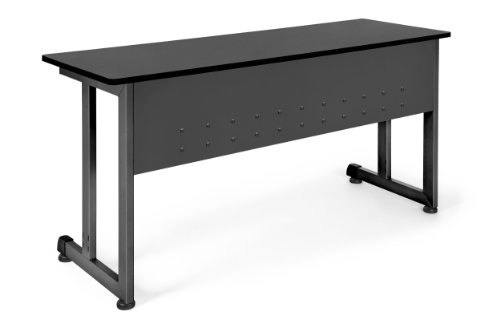 "OFM Model 55141 20"" x 55"" Modular Utility and Training Table, Graphite with Black Frame"