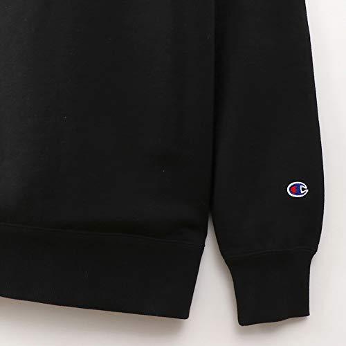 [チャンピオン]スウェットシャツ裏毛ワンポイント刺繍ロゴ定番ベーシックC3-Q001メンズブラックM