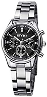 EYKI Fashion Classic Lover's Watch Table Quartz Steel Watchband EET8581 Women Female Black