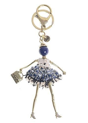 Trendfinding - Portachiavi alla moda con anello portachiavi e moschettone