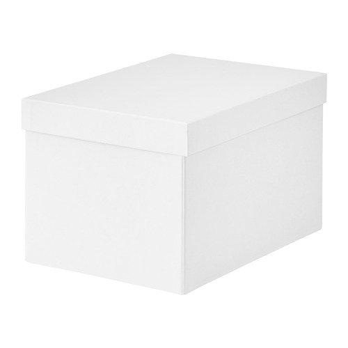 IKEA Tjena Storage Box with Lid White 103.954.21 Size 7x9 ¾x6