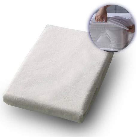 LaraTex Wasserdichter Matratzenschoner - Wasserfeste Matratzenauflage - Matratzenbezug für Nässeschutz/Inkontinenzunterlage - waschbar, Allergiker geeignet, atmungsaktiv - Spannfixierung (90x200cm)