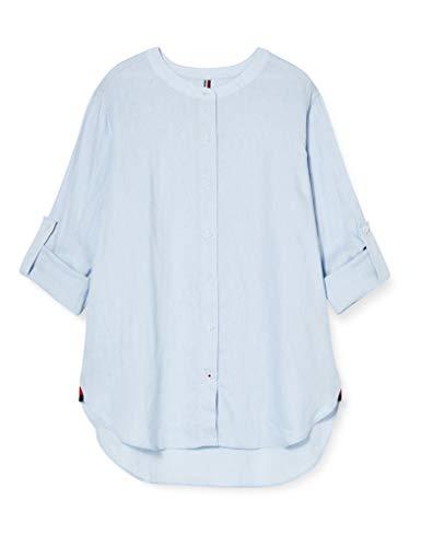 Tommy Hilfiger Damen Th ESS Penelope Shirt Ls W4 Hemd, Blau (Breeze Blue C1o), 36 (Herstellergröße: 38)
