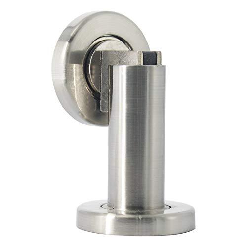 Probrico, robusto fermaporta montato a parete o a pavimento, fermaporta magnetico con fermo di finecorsa (DSHH101), 1Pcs, Finish:Satin Nickel