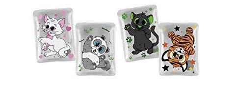 MC Trend Juego de 4 calentadores de bolsillo para los dedos calientes en otoño e invierno, reutilizables, diseño de panda de animales