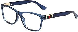 Gosunfly - Gafas de sol gafas de moda ultraligeras planas brillantes- # 2 color té luz plana color de la lente