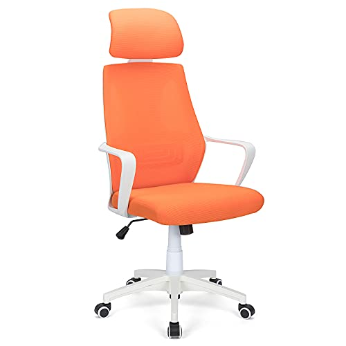 Futurefurniture® - Silla de oficina ergonómica (150 kg), color naranja