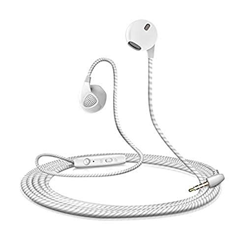 Shot Case–Auriculares para Samsung Galaxy J72016con Micro ajuste Kit manos libres in-Ear auricular Universal jack blanco