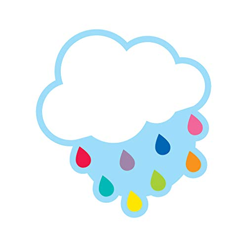 Schoolgirl Style - Hello Sunshine   Cloud with Raindrops Colorful Cut-Outs, Classroom Décor, 36 Pieces