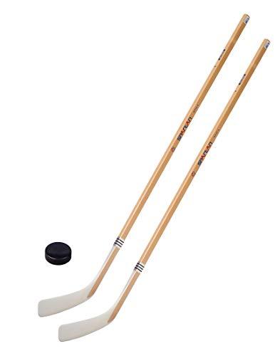 Unbekannt Eishockeyschläger-Set Junior 6: 2 Vancouver-Schläger 125cm gerade Kelle & Puck