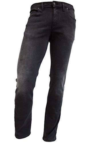 ALBERTO Luxury T400 Superfit Dual FX Jeans Pipe in Black in 42/34