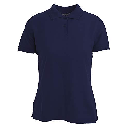 Absolute Apparel - Polo Diva para Mujer (XL) (Azul Marino)