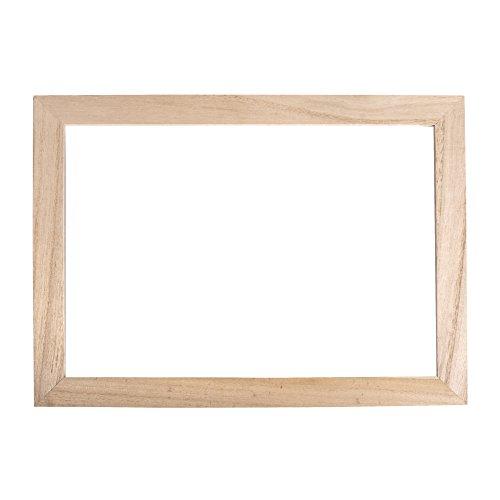 Rayher Holz-Rahmen mit doppeltem Acrylglas, 35 x 26 x 0,7 cm, Bilderrahmen, Objektrahmen mit zwei Glasscheiben, Holz FSC zertifiziert, 62801000