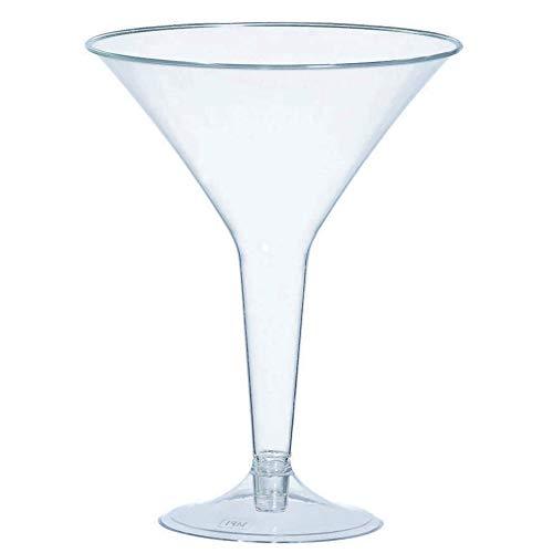 amscan Klar Kunststoff Einweg Martini Gläser 235ml, 20Stück