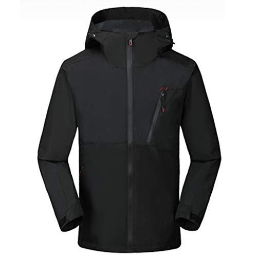 ღJiaMeng Herren Wasserdicht und Winddicht Jacke Im Freien Sport Sweatshirt Mountaineering Mantel Winter und Herbst Langarm Kapuzenjacke