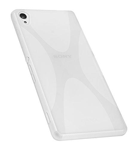 mumbi Hülle kompatibel mit Sony Xperia Z3 / Z3 Dual Handy Hülle Handyhülle, transparent weiss