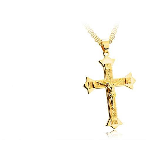 SLVVL Personalidad de Acero de Titanio Jesús Cruz Colgante