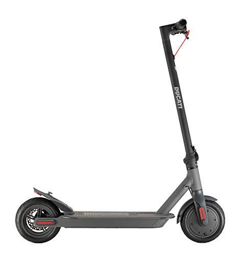 """Ducati Monopattino Elettrico Pro 1 Evo, Motore 350W Brusheless, Batteria autonomia fino 25 Km., Ruote 8,5"""" camera d'aria, Bluetooth per interagire con APP dedicata."""