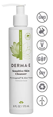 DERMA E Fragrance Free Sensitive Skin Cleanser with Pycnogenol, 6 oz