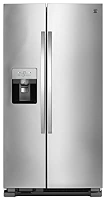Kenmore Ice System Total Capacity 51335 25 cu. ft Side Refrigerator with SpaceSaver in Stainless Steel, Stainless