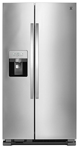 Kenmore Ice System Total Capacity 51335 25 cu. ft Side Refrigerator with SpaceSaver in Stainless Steel