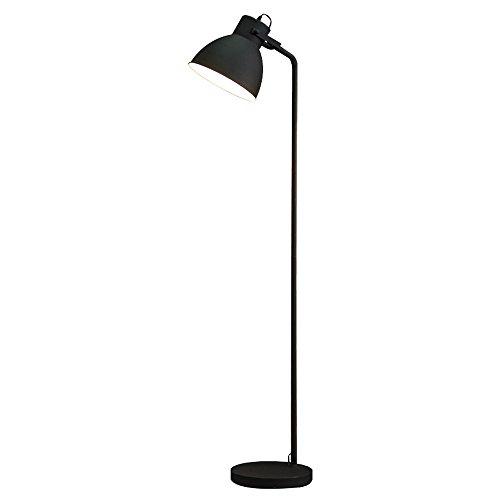 Hmvlw Negro Lámpara de Hierro nórdica Estudio Estudio de Lectura Habitación Habitación Sala Simple Creativa Moderna iluminación Vertical (Color : Black)