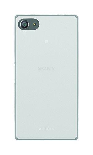 Phonix SOZ5CGPW Cover 'Gel Protection Plus' mit Bildschirmschutzfolie, transparentes für Sony Xperia Z5 compact weiß