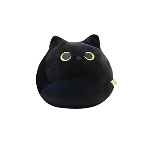 Black Cat Plush Toy, Creative Cat Shape Pillow Gift Animal Dolls for Girlfriend Valentines Gift and Children Birthday Gift, Cute Black Cat Plush Toy Pillows (40cm)