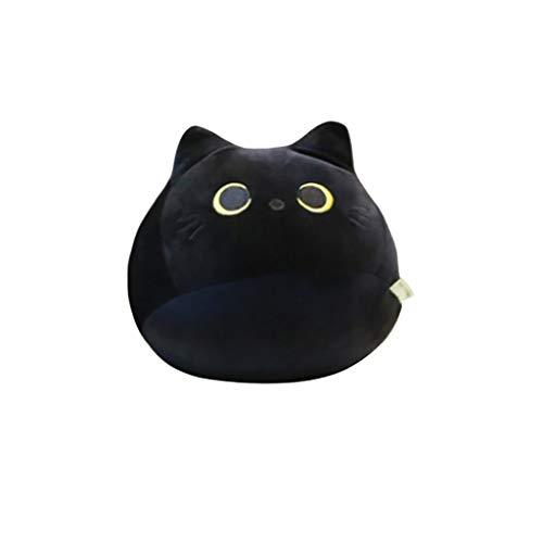 Fulltime Nette Schwarze Katze Plüschtier Umarmung Spielzeug Kreative Katzenform Kissen Geschenk Tier Puppe S/L (S/400.0g)