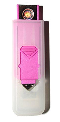 USB Smart Feuerzeug von Champ High Power Lange Lebensdauer Wiederaufladbare Zelle Keine Flamme Kein Gas Nachfüllbare Qualität Smart USB Igniter PINK