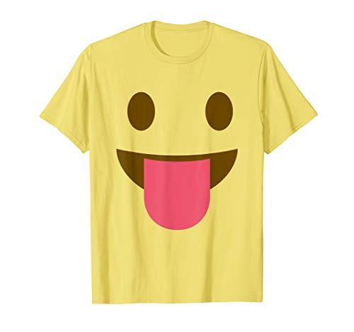 Zunge heraus freche Emoji Halloween Gruppe Kostüm T-Shirt
