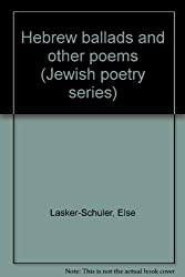 "Cover of ""Hebrew ballads and other poems (Jewish poetry series)."