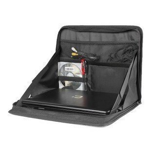 Treasure-House Multifunktions Auto Faltbare Laptop und Notebook Halterung Automarke Organizer Schwarz Wasserdicht Oxford Stoff