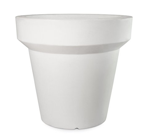 Plart Design DP1820 Primula Pot de Flor Color Blanco