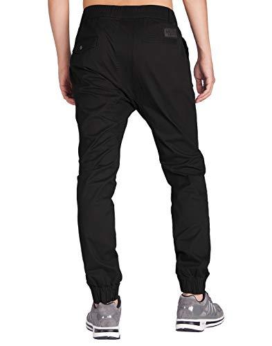 Italy Morn Men Drop Crotch Jogger Casual Pants Jogging Twill Khakis Chinos M Black