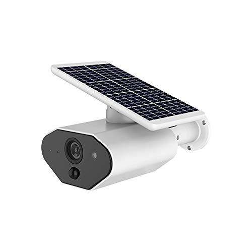 Nicoone Cámara con energía solar, cámara inalámbrica, cámara de monitoreo remoto, IP65 impermeable, micrófono y altavoz integrado, cámara de detección de movimiento