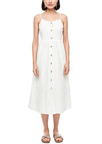 s.Oliver Damen Kleid mit Glitzergarn Cream 40