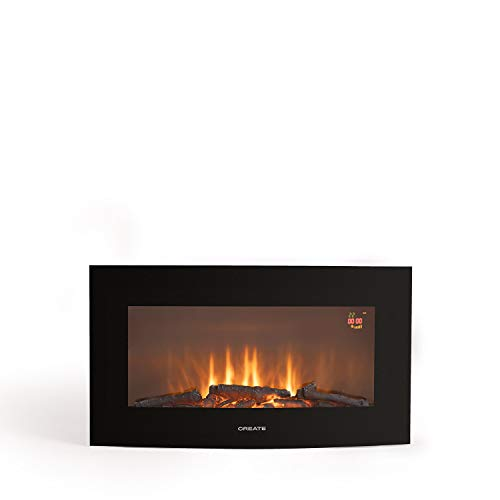 "CREATE IKOHS ELECTRIC FIRE - Chimenea Eléctrica de pantalla curva (Electric fire - M 28"")"