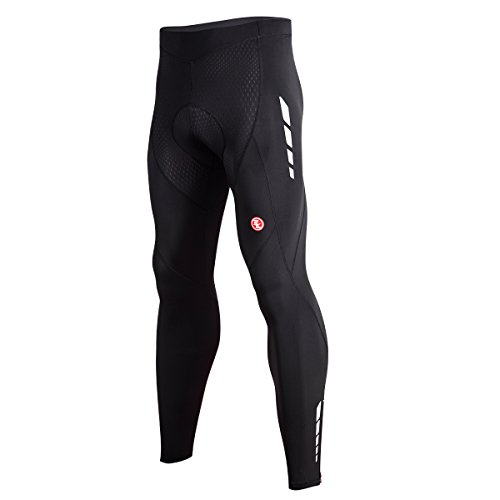 Souke Sports Fahrradhose Herren Lang 3D gepolsterte Legging Radsport Lange Hosen Atmungsaktiv Radhose Herren Lang
