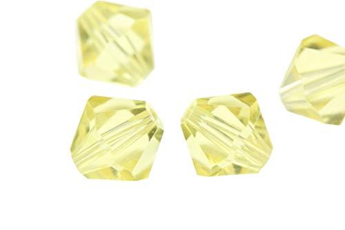 100pcs 8mm Adabele Austrian Bicone Crystal Beads Jonquil Yellow Compatible with Swarovski Crystals Preciosa 5301/5328 SSB809